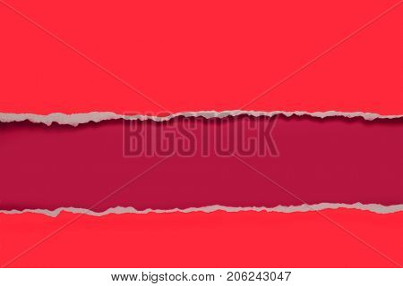 Rip Paper design in red and fuchsia colors