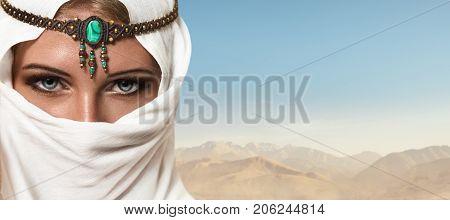 Beautiful Young Woman Arabic Style