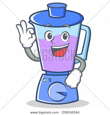 Okay blender character cartoon style vector illustration