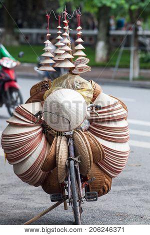 vietnam's traditional souvenirs are sold in Hanoi's Old Quarter ( Pho Co Hanoi), Vietnam