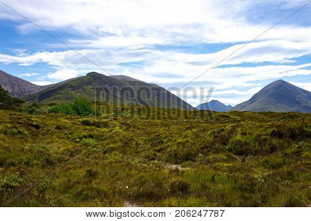 Gorgeous view of Tir Nan Iolaire or the Land of Eagles on the Isle of Skye in Scotland.