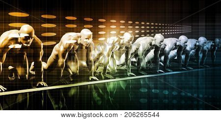 Predictive Analytics System and Forecast Software Art 3D Illustration Render