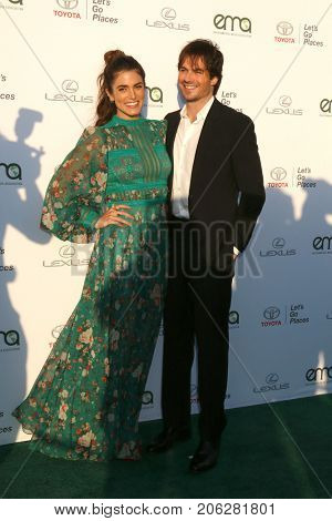 LOS ANGELES - SEP 23:  Nikki Reed, Ian Somerhalder at the 27th Environmental Media Awards at the Barker Hangaer on September 23, 2017 in Santa Monica, CA