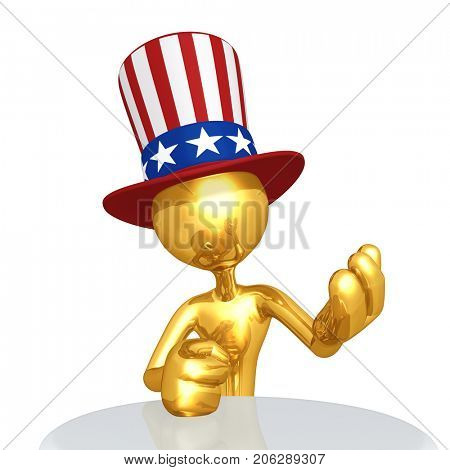 The Original 3D Character Illustration Uncle Sam