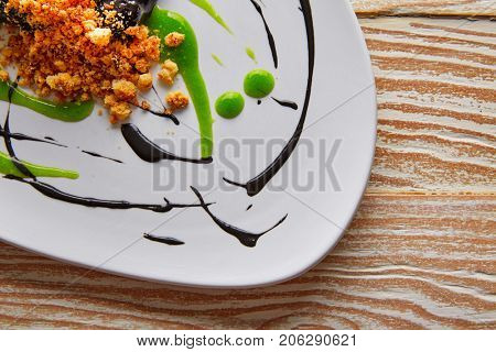 Molecular gastonomy cuttlefish roes with citrus mayonnaise