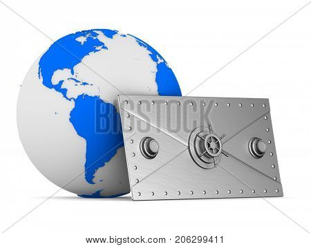 E-mail concept on white background. Isolated 3D illustration