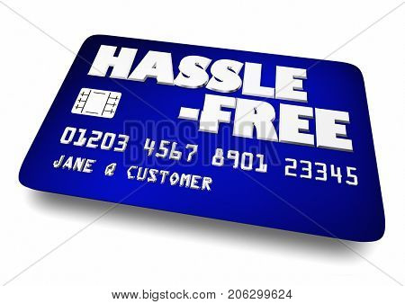 Hassle Free Credit Card Easy Apply New Account 3d Illustration