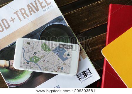 Digital Tablet Show GPS Navigation Map