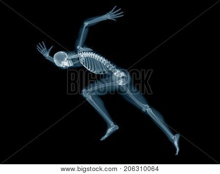 3d rendered medically accurate illustration of a sprinter x-ray