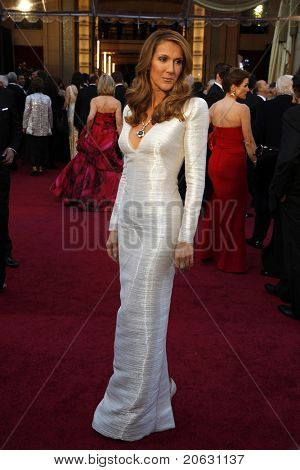 LOS ANGELES - FEB 27:  Celine Dion arrives at the 83rd Annual Academy Awards - Oscars at the Kodak Theater on February 27, 2011 in Los Angeles, CA.