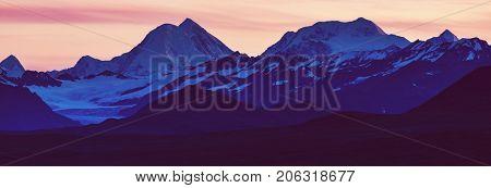 Landscapes on Denali highway, Alaska.