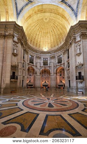 Interior Of The National Pantheon, The Former Church Of Santa Engracia. Lisbon. Portugal