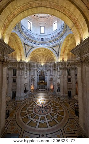 The Interior Of Engracia Church (now National Pantheon). Lisbon. Portugal