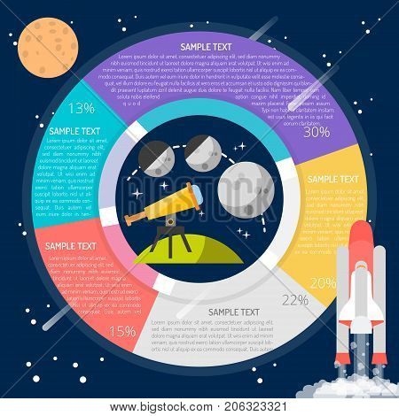 Moon Tracker Infographic | set of vector diagram illustration use for education, research, science and much more.The set can be used for several purposes like: websites, print templates, presentation templates, and promotional materials.