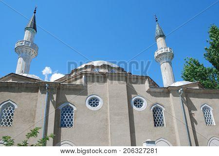 Yevpatoriya Crimea mosque Han-Jami against the sky