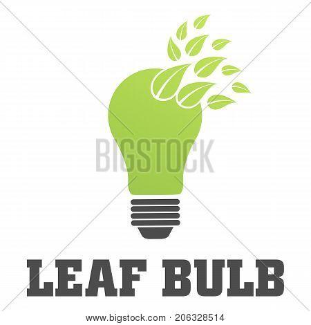 Eco bulb vector illustration on white background