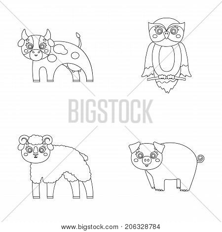 Forest, ecology, toys and other  icon in outline style.Animals, farm, enterprises icons in set collection.