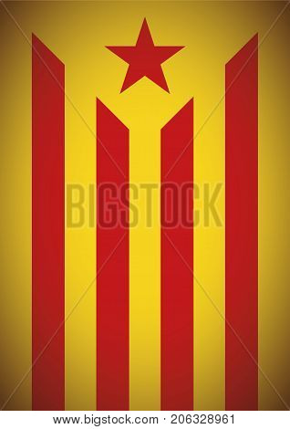 Estelada Vermella Banner Flag Background Catalonia Independence Secession