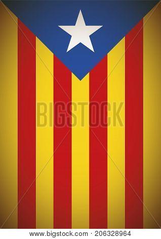 Estelada Blava Banner Flag Background Catalonia Independence Secession