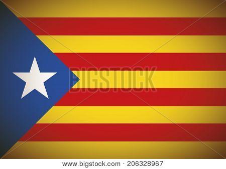 Estelada Blava Flag Background Catalonia Independentism Referendum