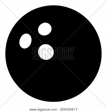 Bowling ball icon. Simple illustration of bowling ball vector icon for web