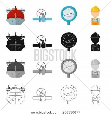 Transport, profession, equipment and other  icon in cartoon style.Man, refueler, oilman, icons in set collection.