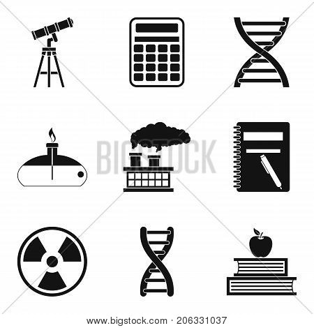 Chemical pollution icons set. Simple set of 9 chemical pollution vector icons for web isolated on white background