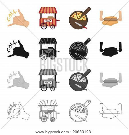 Treat, cafe, restaurant and other  icon in cartoon style.Gurney, dough, food icons in set collection.