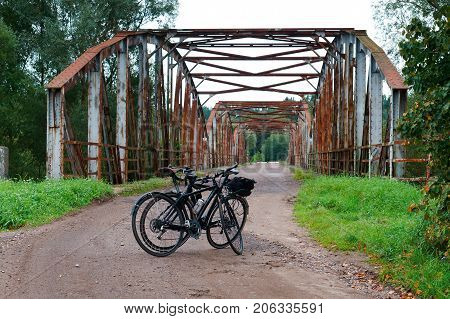old abandoned railway bridge rusty rusty iron