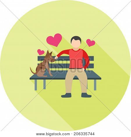 Compassion, support, care icon vector image. Can also be used for Personality Traits. Suitable for web apps, mobile apps and print media.