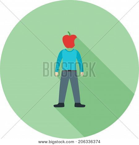 Health, conscious, food icon vector image. Can also be used for Personality Traits. Suitable for web apps, mobile apps and print media.