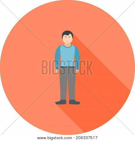 Stubborn, angry, rude icon vector image. Can also be used for Personality Traits. Suitable for web apps, mobile apps and print media.