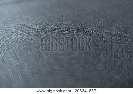 Black Viscose Fabric (soft Focus, Close View)