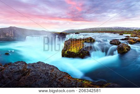 Godafoss waterfall on Skjalfandafljot river