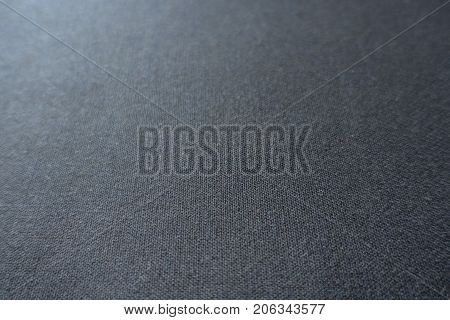 Close View Of Dark Grey Viscose Fabric