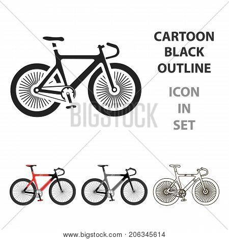 Bicycle icon cartoon. Single sport icon from the big fitness, healthy, workout cartoon.