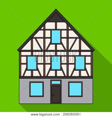 House single icon in flat style.House vector symbol stock illustration .