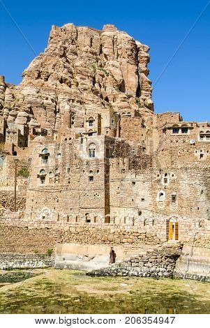 The Village Of Thula On Yemen