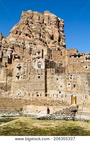The Village Of Thula On Yemen