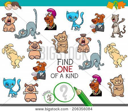 Find One Picture Of A Kind Cartoon Game