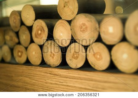 Background and texture of log. Log for decoration.