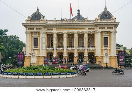 Hanoi Vietnam - August 15 2017: Hanoi Opera House building