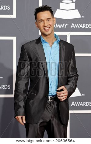 """LOS ANGELES - JAN 31:  Mike """"The Situation"""" Sorrentino arrives at the 52nd Annual GRAMMY Awards held at Staples Center in Los Angeles, California on January 31, 2010."""
