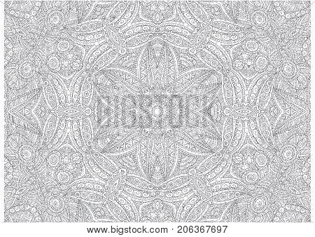 Vector graphics with abstract outline concentric pattern