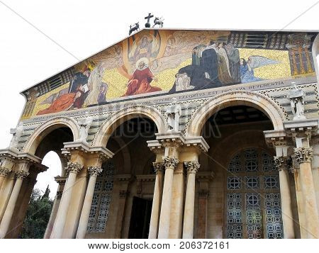 Israel city of Jerusalem Basilica of Agony of the Jesus