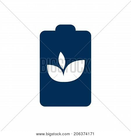 Vector Eco Battery Element In Trendy Style.  Isolated Accumulator Icon Symbol On Clean Background.