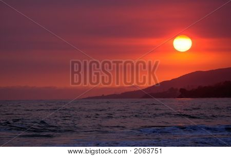 Californian Beach Sunset
