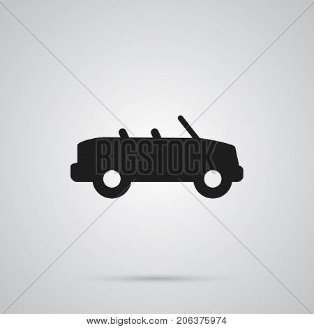 Vector Coupe  Element In Trendy Style.  Isolated Cabriolet Icon Symbol On Clean Background.