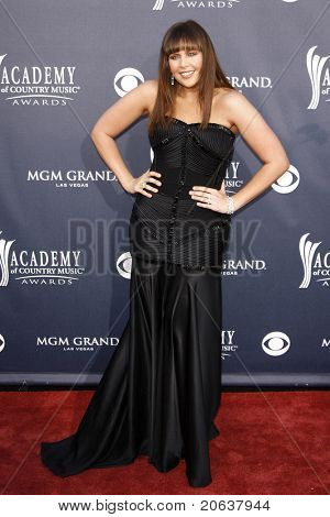LAS VEGAS - APR 03:  Hillary Scott of Lady Antebellum arrives for the 46th Academy of Country Music Awards at the MGM Grand Hotel and Casino in Las Vegas, Nevada on April 3, 2011.