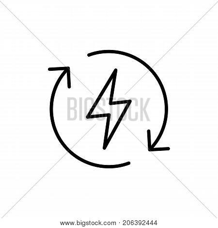 Thin Line Renewable Energy Icon